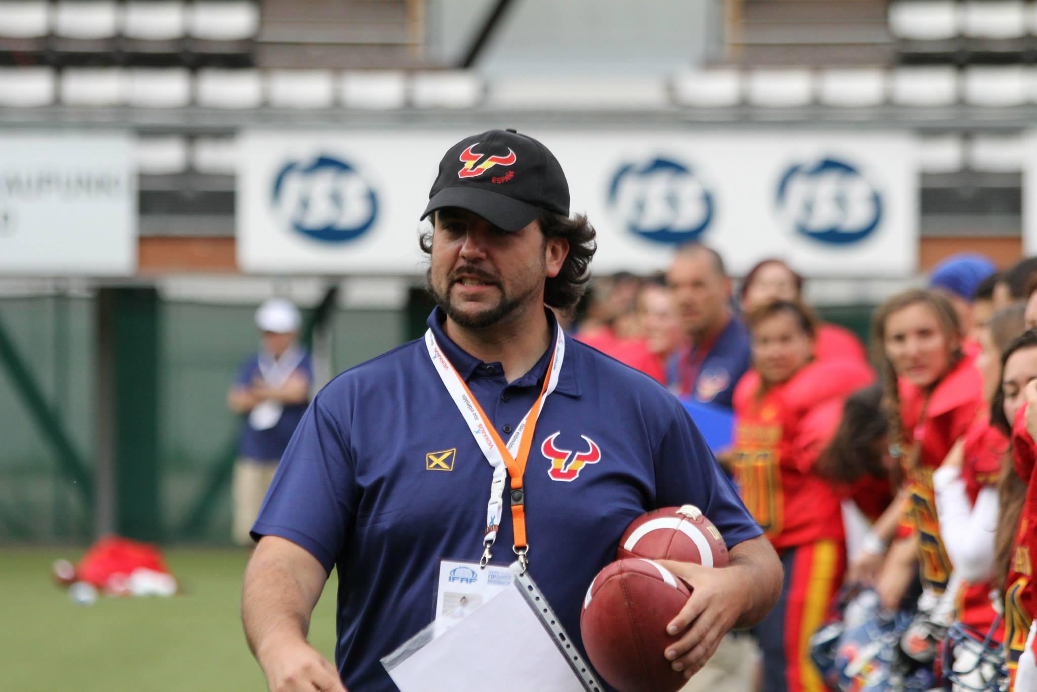 Roberto Torrecillas durante un partido del último mundial femenino (Iceman Photoz)