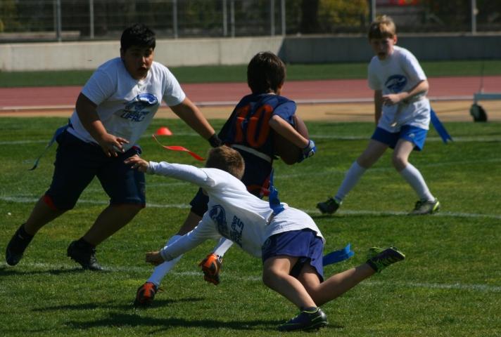 El flag football, en todas sus categorías, preside el fin de semana (C.Llitjos)