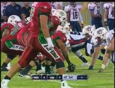 Un instante del partido entre México y USA (TV/Tackleo.com)
