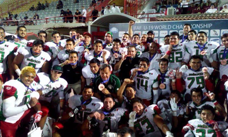 El conjunto azteca celebró su medalla de bronce