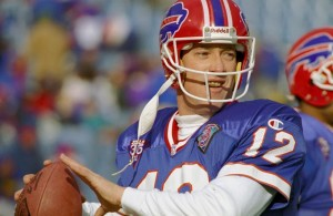 Jim Kelly, líder de los Bills. (AP)