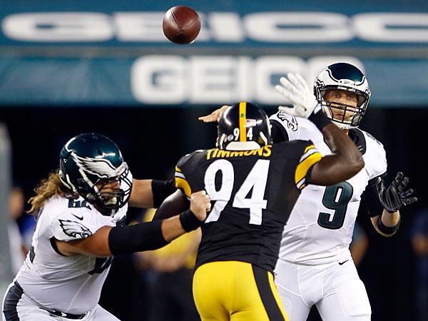 La primera ofensiva de los Eagles se mostró entonada. (AP)
