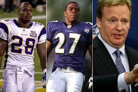 Los escándalos de Ray Rice y Adrian Peterson han dañado la imagen de la NFL, especialmente la de Roger Goodell
