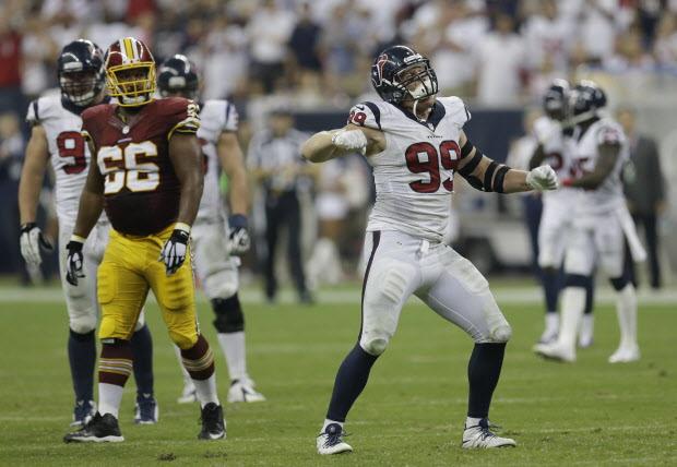 J.J. Watt fue una auténtica pesadilla para los Redskins (AP)