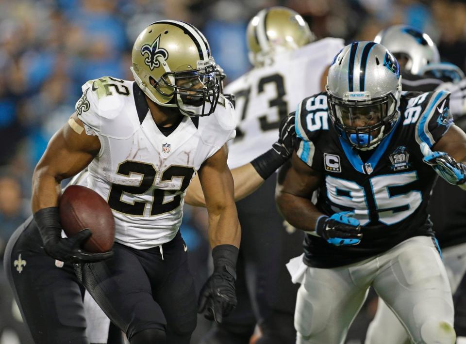Mark Ingram está siendo el caballo de batalla de los Saints (Panthers.com)