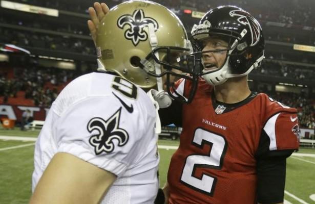 Brees y Ryan se la juegan. Cara a cara en uno de los partidos de la semana (AP)