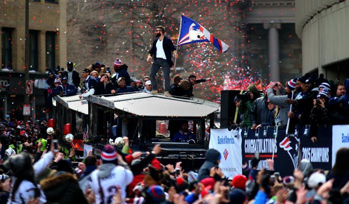 Julian Edelman en plena celebración (Boston.com)