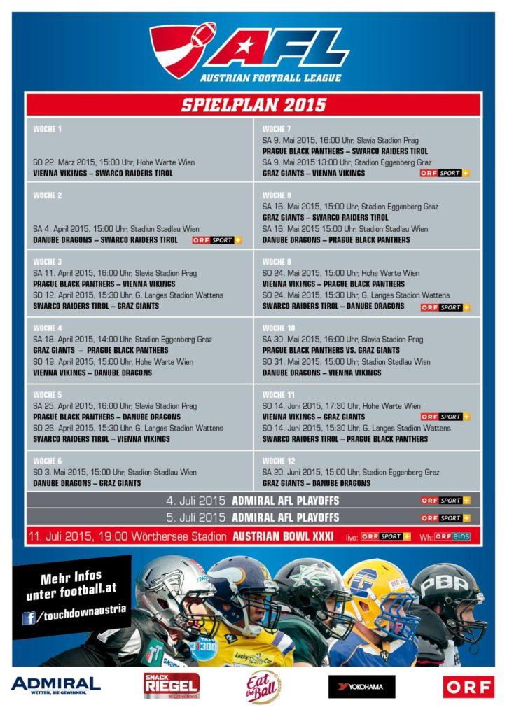 Calendario de la AFL 2015