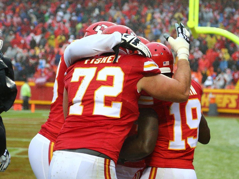 Los chiefs celebran un touchdown (KCChiefs.com)