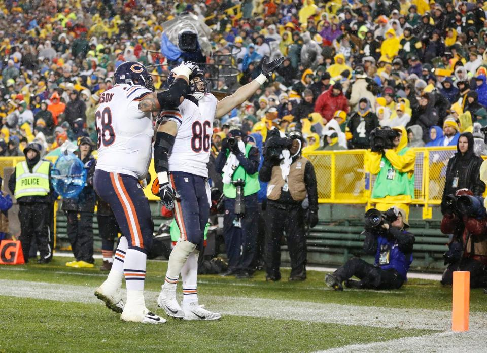 Zach Miller celebra su touchdown (ChicagoBears.com)