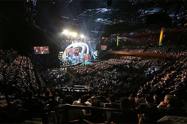 Espectacular aspecto de la sala en la noche de ayer (NFL.com)