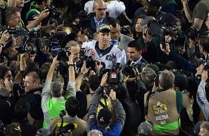 Manning en su posible adiós. Una foto para la historia (Denver Post)